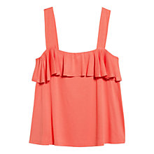 Buy Mango Ruffle Strap Top, Light Pastel Orange Online at johnlewis.com
