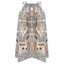 Buy Warehouse Tribal Hankie Hem Cami Top, Multi Online at johnlewis.com