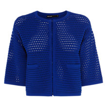 Buy Karen Millen Ripple Texture Cardigan, Ink Blue Online at johnlewis.com