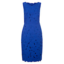 Buy Hobbs Magnolia Cutwork Dress, Cobalt Online at johnlewis.com