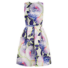 Buy Warehouse Neon Floral Prom Dress, Multi Online at johnlewis.com