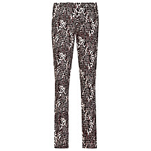 Buy Reiss Olive Printed Slim-Leg Trousers, Mandarin/Black Online at johnlewis.com