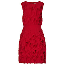 Buy Reiss Ruffle Detail Dress, Cherry Red Online at johnlewis.com
