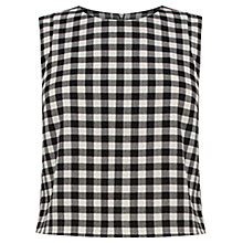 Buy Oasis Gingham Shell Top, Multi Online at johnlewis.com