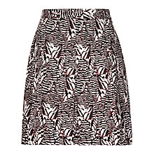 Buy Reiss Sitara Printed Skirt, Mandarin/Black Online at johnlewis.com