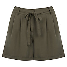 Buy Oasis Soft Utility Shorts, Khaki Online at johnlewis.com