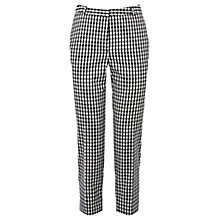 Buy Oasis Small Gingham Capri Trousers, Multi Online at johnlewis.com