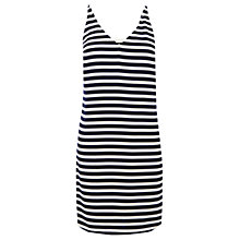 Buy Oasis Stripe Cami Dress, Multi Blue Online at johnlewis.com