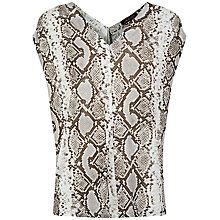 Buy Jaeger Jersey Python Print Top, Natural Online at johnlewis.com