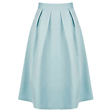 Buy Oasis Satin Full Skirt, Pale Green Online at johnlewis.com