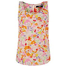 Buy Oasis Painterly Floral Vest Top, Multi Online at johnlewis.com