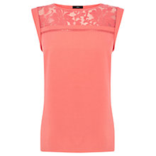Buy Oasis Organza Insert Shell Top Online at johnlewis.com