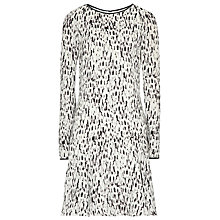 Buy Reiss Painterly Print Dress, Black / White Online at johnlewis.com