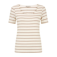 Buy Hobbs Cathy Top, Ivory/Stone Online at johnlewis.com