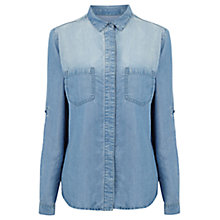 Buy Oasis Tori Shirt, Denim Online at johnlewis.com
