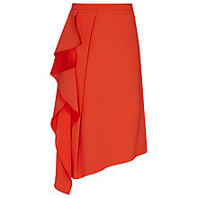 Buy Reiss Dita Waterfall Front Skirt, Mandarin Online at johnlewis.com
