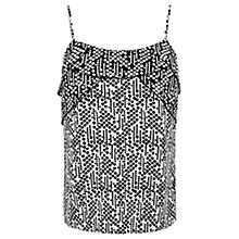 Buy Oasis Tear Drop Patched Cami Top, Multi Black Online at johnlewis.com