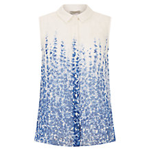 Buy Hobbs Trail Delphinium Silk Blouse, Ivory/Blue Online at johnlewis.com