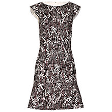 Buy Reiss Alto Printed Dress, Mandarin/Black Online at johnlewis.com