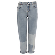 Buy Karen Millen Patchwork Jeans, Light Blue Online at johnlewis.com