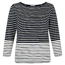 Buy Hobbs Cornell Sweater, Ivory Navy Online at johnlewis.com