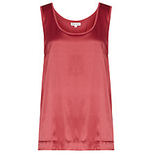 Buy Reiss Silk Front Jersey Tank Top, Peony Online at johnlewis.com