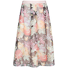 Buy Ted Baker Burnout Midi Skirt, Pink Online at johnlewis.com