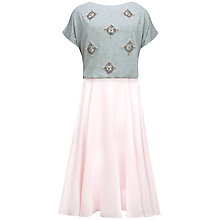 Buy Ted Baker Embellished Dress, Grey/Pink Online at johnlewis.com