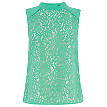 Buy Oasis Leaf Lace High Neck Shell Top Online at johnlewis.com