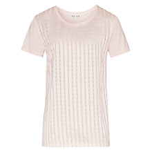 Buy Reiss Mariah Stripe T-shirt, Dark Icing Online at johnlewis.com
