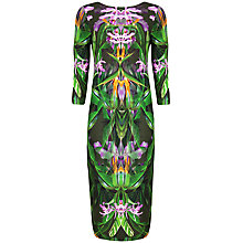 Buy Ted Baker Paradise Print Midi Dress, Olive Online at johnlewis.com