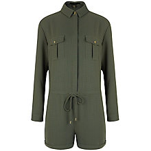 Buy Ted Baker Tegeen Utility Playsuit, Olive Online at johnlewis.com