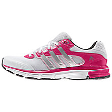 Buy Adidas Nova Cushion Women's Running Shoes, White/Pink Online at johnlewis.com