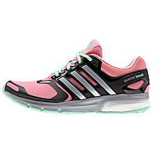 Buy Adidas Questar Boost Women's Running Shoes, Pink/Black Online at johnlewis.com