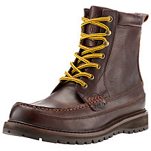 Buy Polo Ralph Lauren Willingcott Leather Boots, Brown Online at johnlewis.com