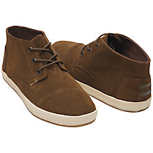 Buy TOMS Paseo Mid Top Chukka Boots, Brown Online at johnlewis.com