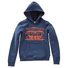 Buy Levi's Boys' Will Classic Logo Hoodie, Grey Online at johnlewis.com