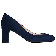 Buy L.K. Bennett Sersha Suede Block Heel Court Shoes Online at johnlewis.com