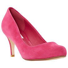 Buy Dune Amelia Court Heels, Raspberry Suede Online at johnlewis.com