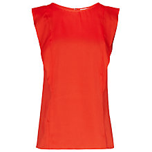 Buy Reiss Neck Ruffled Top, Mandarin Online at johnlewis.com