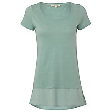Buy White Stuff Linen Yard Spot T-Shirt, Ceramic Blue Online at johnlewis.com