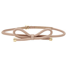 Buy Reiss Swift Bow Tie Belt, Blush Online at johnlewis.com
