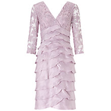 Buy Adrianna Papell Shimmer Tuck Lace Sheath Dress Online at johnlewis.com