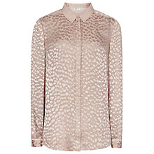 Buy Reiss Devore Burnout Shirt, Oyster Online at johnlewis.com