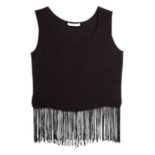 Buy Mango Fringed Hem Top Online at johnlewis.com