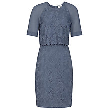 Buy Reiss Calla Floral Overlay Dress, Cornflower Blue Online at johnlewis.com