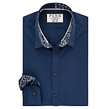 Buy Thomas Pink Deacon Plain Slim Fit Shirt, Navy Online at johnlewis.com