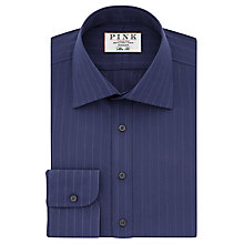 Buy Thomas Pink Suffolk Slim Fit Stripe Shirt, Navy Online at johnlewis.com