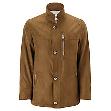 Buy Bugatti Microma Velour 84cm Jacket, Tobacco Online at johnlewis.com
