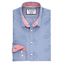 Buy Thomas Pink Knighton Texture Slim Fit Shirt Online at johnlewis.com